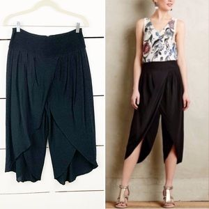 ANTHRO ELEVENSES Cropped Tulip Trousers Black 4